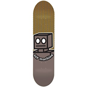 Toy Machine Robot Skateboard Deck - Grey 8.25