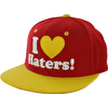 DGK I Love Haters Snapback Cap - Red/Yellow
