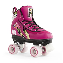 B-Stock Rio Roller Flower Quad Roller Skates Size - UK 8 (Box Damage)