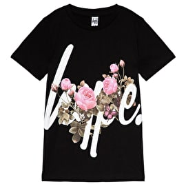 Hype Butterfly Rose Kids T Shirt - Black