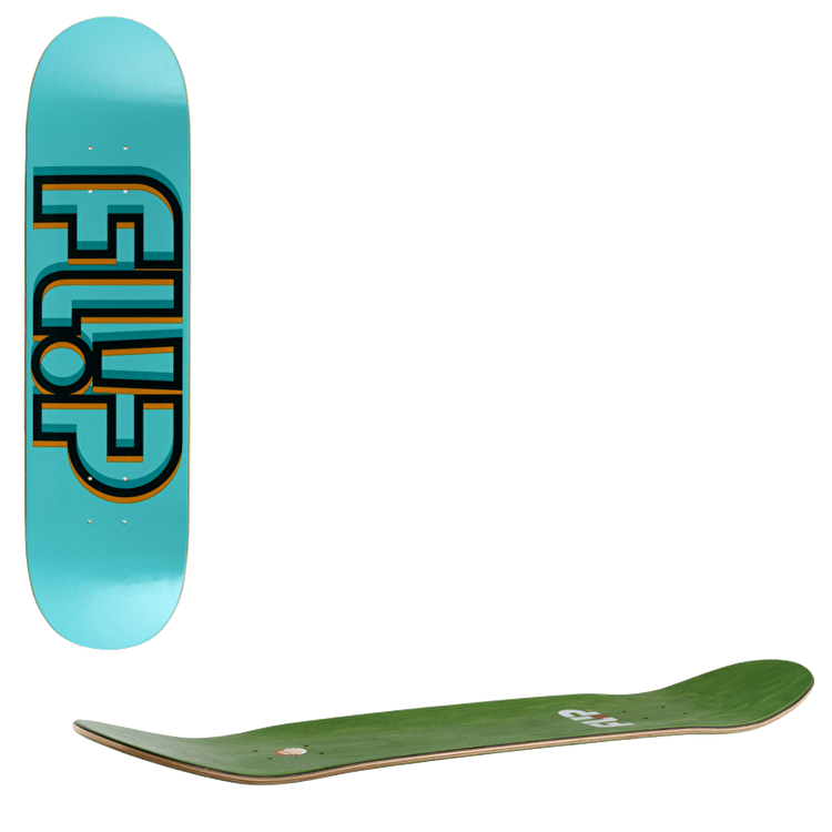 Flip Odyssey Depth Skateboard Deck - Green 7.75""