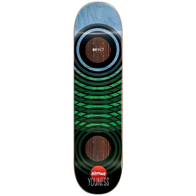 Almost Skateboard Deck - OG Trans Rings Impact Youness 8""