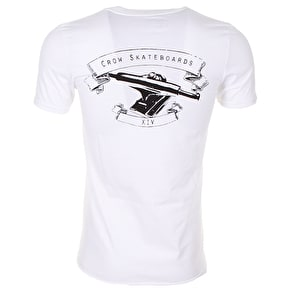 Crow T-Shirt - Skateboard Trucks - White
