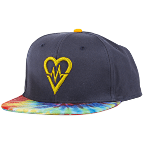 Revive Skateboards Snapback Cap - Navy/Tie Dye