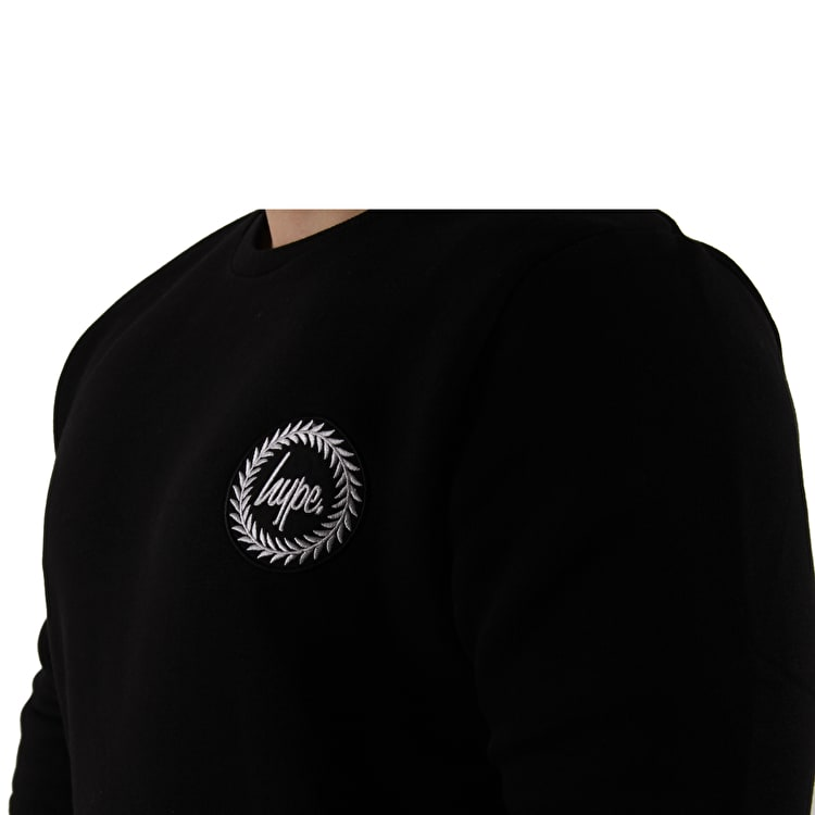 Hype Crest Crew Neck  - Black