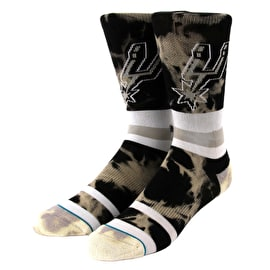 Stance NBA - Spurs Acid Wash Socks - Black
