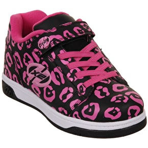 Heelys Dual Up - Black/Hot Pink/Leopard