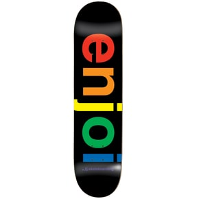 Enjoi Spectrum Skateboard Deck - Black 8.25