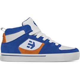 Etnies Harrison HT Kids High Top Skate Shoes - Royal/Orange/White