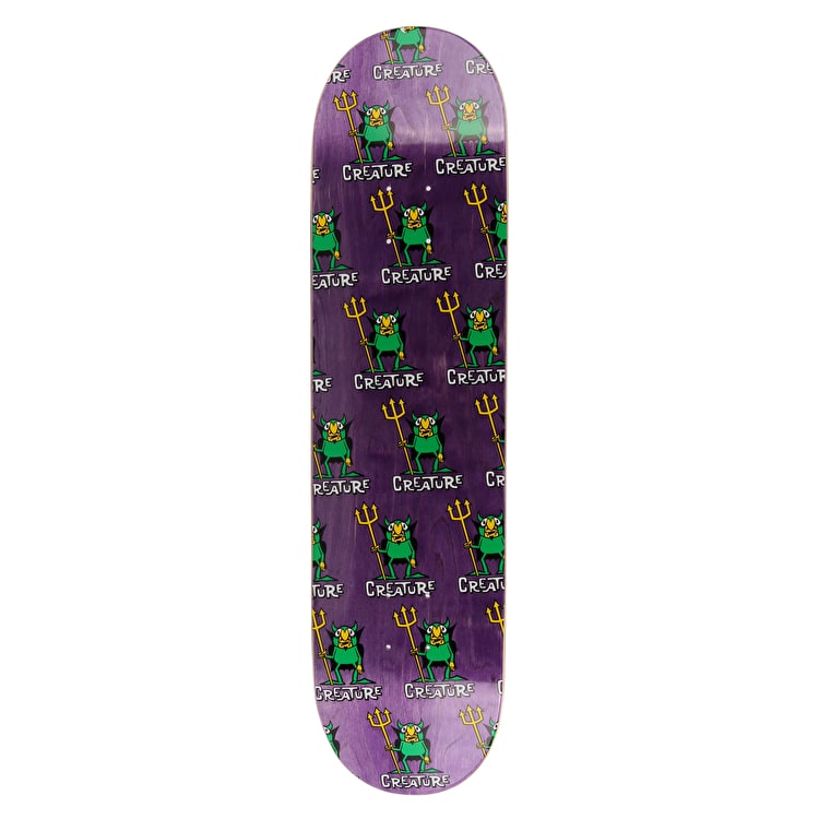 Creature Beelzebub Hard Rock Maple Skateboard Deck - Purple 8""