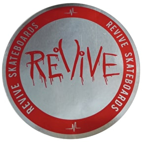 ReVive Skateboard Sticker - Silver Foil