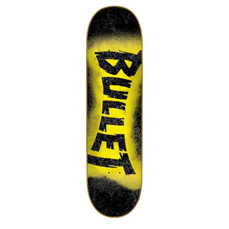 Bullet Skateboard Deck -  Sprayed Black 7.8""