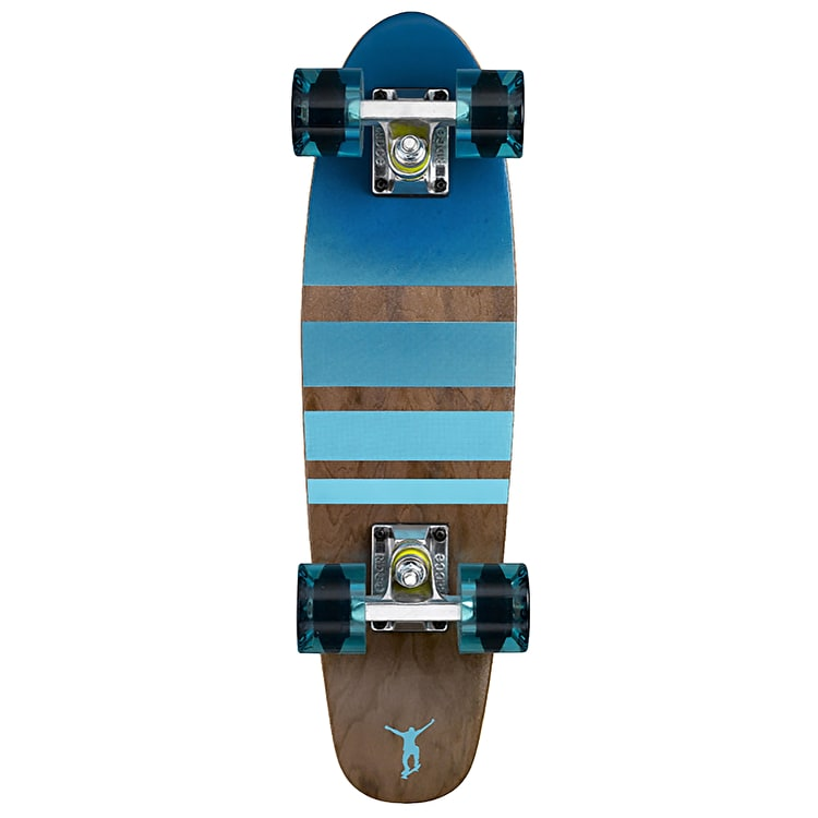 Ridge Mini Cruiser Skateboard - Number Three Dark Dye/Clear Blue 22""