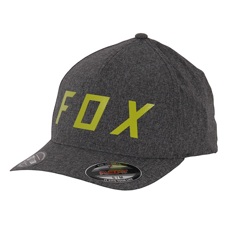 Fox Moth Flexfit Cap - Charcoal Heather