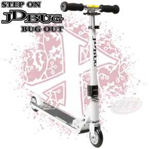 JD Bug Pro Street V3 Complete Scooter - Pepper White