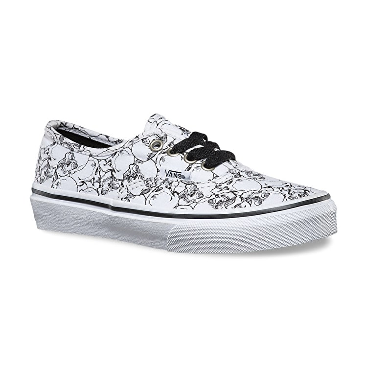 Vans Authentic Kids Shoes - (Colour Me) Skulls/White