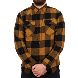 Brixton Bowery LW Long Sleeve Flannel Shirt - Black/Bronze
