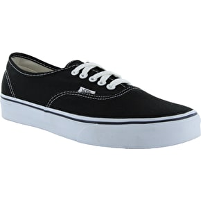 B-Stock Vans Authentic Shoes - Black/White - UK 3 (Slightly Dirty)