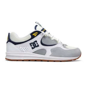 DC Kalis Lite M Skate Shoes - White/Grey/Yellow