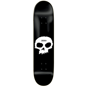 Zero Skateboard Deck - Single Skull R7 Black/White