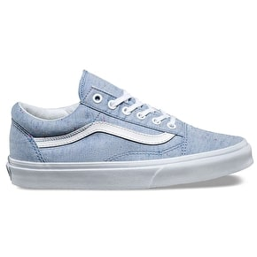 Vans Old Skool Womens Shoes - (Speckle Jersey) Blue/True White