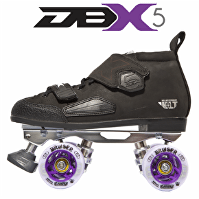 Crazy Skates DBX5 Venus Derby Skate Package