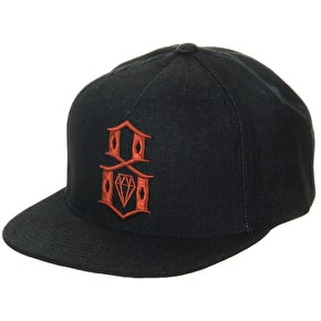 Rebel8 Logo Snapback Cap - Plaid