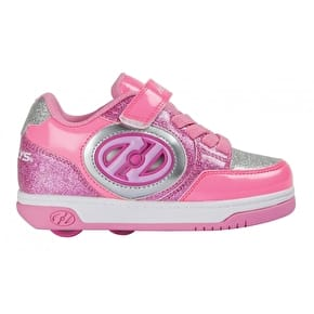 Heelys X2 Plus Lighted - Neon Pink/Light Pink/Silver