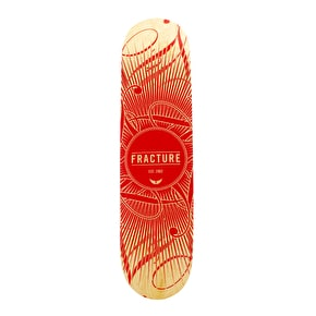 Fracture Skateboard Deck - DB15 Red 7.875