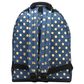 Mi-Pac Denim Polka Backpack - Indigo/Gold