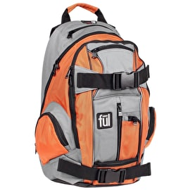 FUL Overton Backpack - Orange/Grey