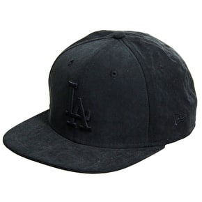 New Era 9Fifty LA Dodgers Snapback - Black Leather