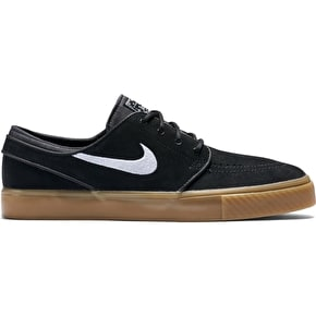 Nike SB Zoom Stefan Janoski Skate Shoes - Black/White/Gum