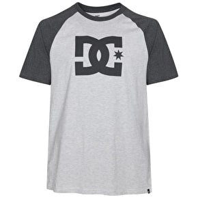 DC Star Raglan T-Shirt - Light Heather Grey