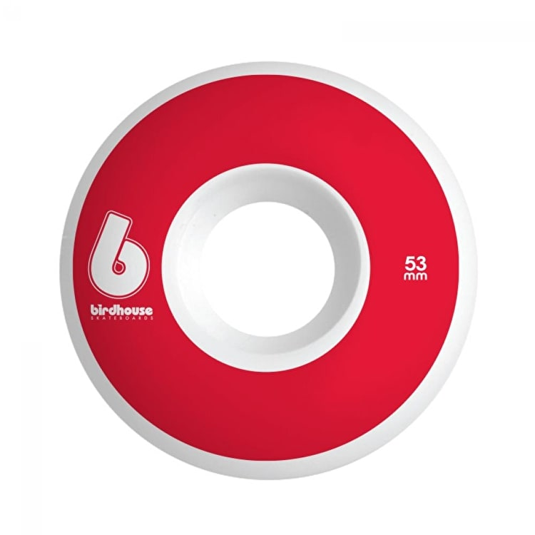 Birdhouse B Logo Skateboard Wheels - Red 53mm