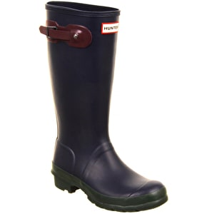 Hunter Kids Reflective Wellington Boots - Contrast Midnight