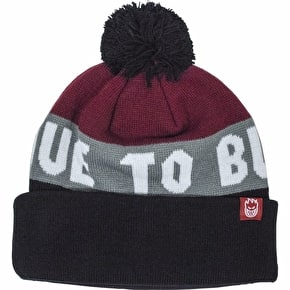 Spitfire Live To Burn Cuff Beanie - Black/Red/Heather Grey