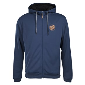 Santa Cruz SCS Simple Dot Zip Hoodie - Dark Denim
