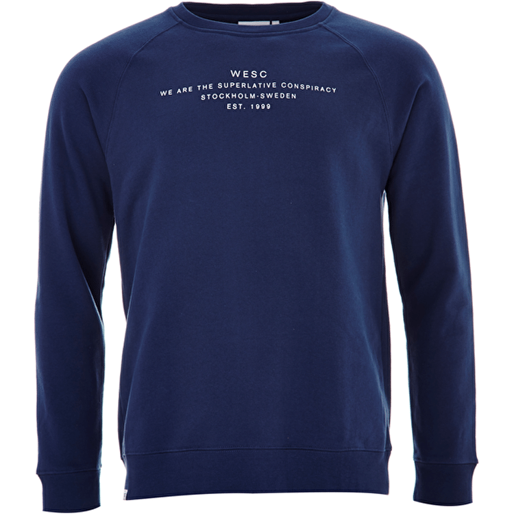 WeSC Patchy Crewneck - Insignia Blue