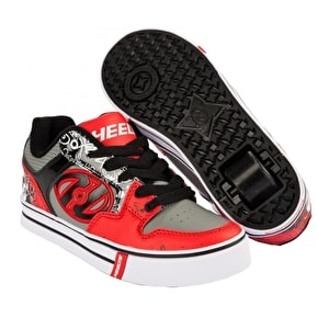 B-Stock Heelys Motion Plus - Red/Black/Grey/Skulls - UK 3 (Returned item)
