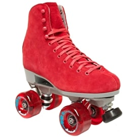 Sure-Grip Boardwalk Suede Quad Roller Skates - Bordeaux Red