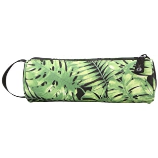 Mi-Pac Tropical Leaf Pencil Case - Black