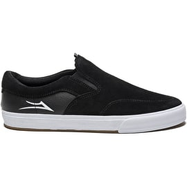 Lakai Owen Kids Skate Shoes - Black Suede