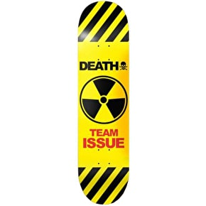 Death Team Issue Skateboard Deck - Yellow 8.5