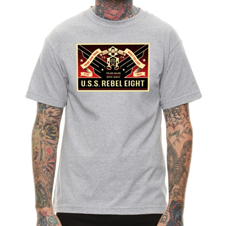 Rebel8 USSR8 T shirt - Heather Grey