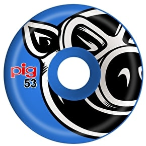 Pig 3D Conical Skateboard Wheels - Blue 53mm
