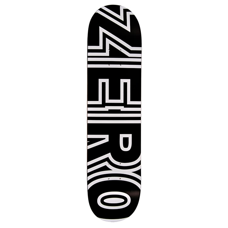 Zero Bold Skateboard Deck - Black/White 7.75""