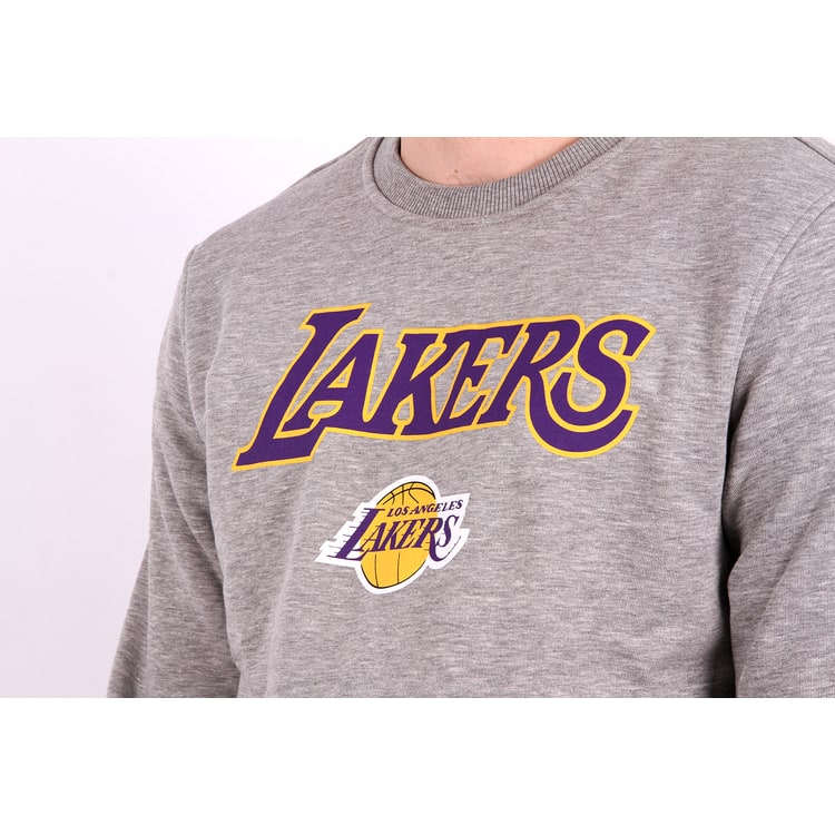 New Era NBA LA Lakers Tip Off Sweatshirt - Grey Heather