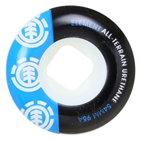 Element Section Skateboard Wheels - Blue/Black 54mm