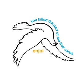 Enjoi Dove Single Sticker - White